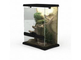 Lizard terrarium 3d preview