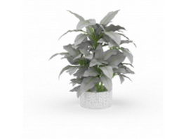 Potted plant 3d preview