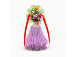 Wedding flower stand 3d preview