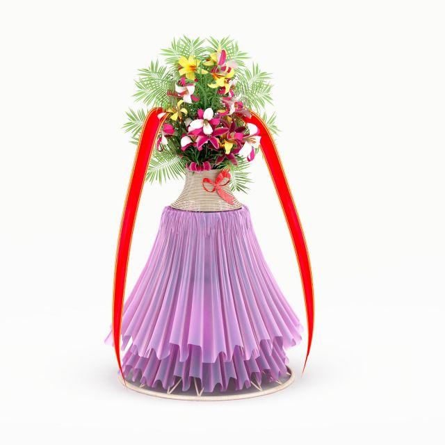 Wedding flower stand 3d rendering