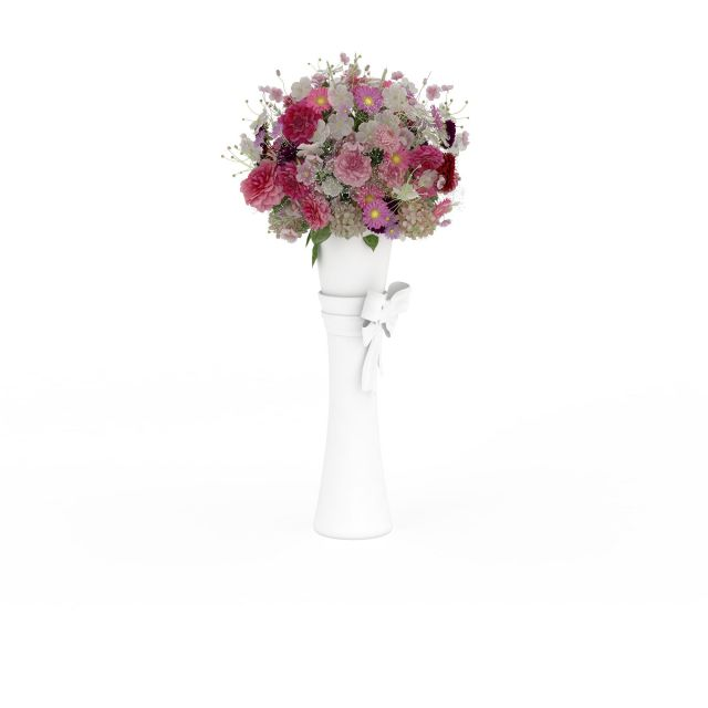 Wedding flower stand column 3d rendering