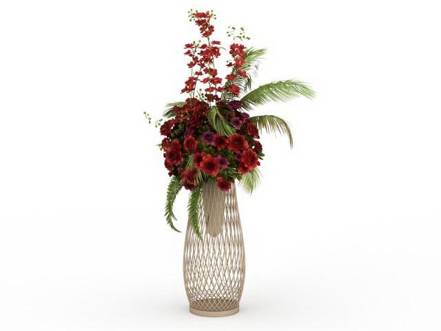 Flower floral arrangements stand 3d rendering
