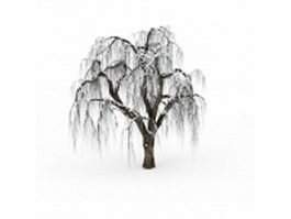 Snow covered tree 3d model preview