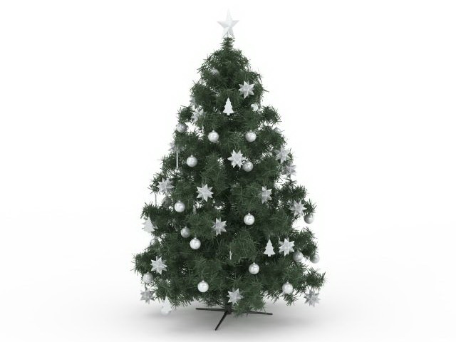 Artificial Christmas tree 3d rendering