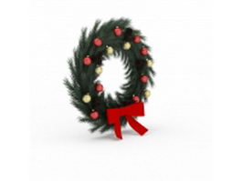 Traditional wreath 3d model preview