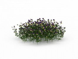 Flower bed plants 3d preview