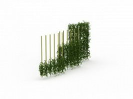 Green wall fencing 3d preview