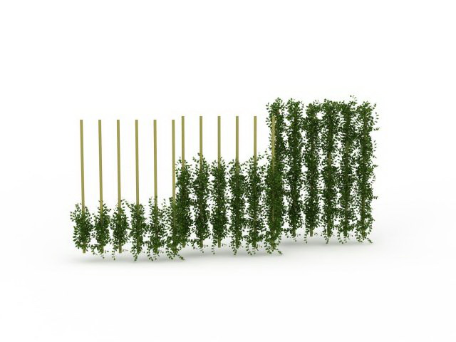 Green wall fencing 3d rendering