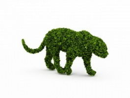 Topiary lion 3d preview