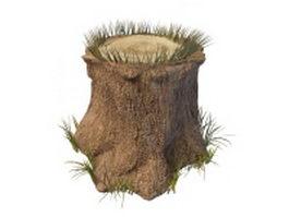 Tree stump 3d preview