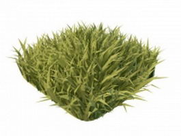 Grass piece for landscaping 3d model preview