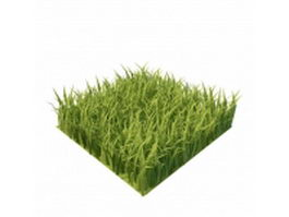 Grass squares 3d preview