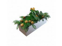 Large garden planter bed 3d model preview