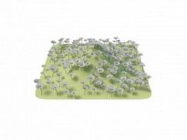 Flower grass piece 3d preview