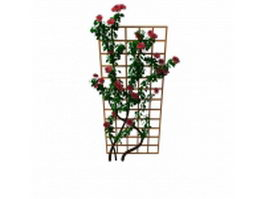 Trellis flowering plants 3d preview