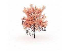 Pink tree for landscaping 3d model preview