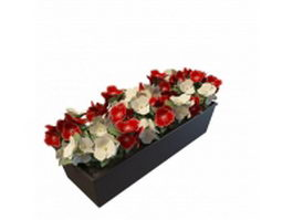 Flower bed planter 3d preview