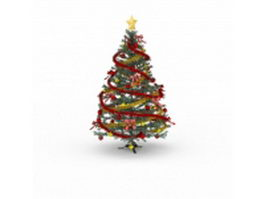 Victorian Christmas tree 3d preview