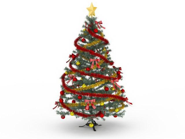 Victorian Christmas tree 3d model 3ds max files free download - modeling 30027 on CadNav