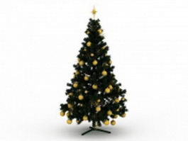 Decorated Christmas tree 3d preview