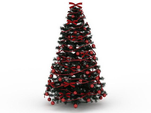 Red Christmas tree 3d model 3ds max files free download - modeling 30029 on CadNav
