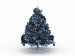 Blue Christmas tree 3d preview