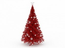 Red Christmas tree 3d preview