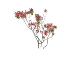 Flower branches 3d model preview