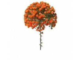 Orange rose ball 3d model preview