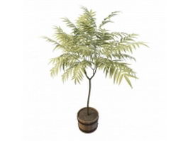 Wood planter tree 3d preview
