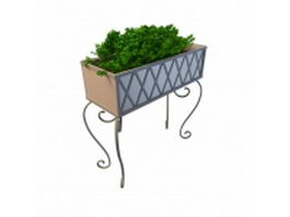 Rectangular plant stand 3d model preview