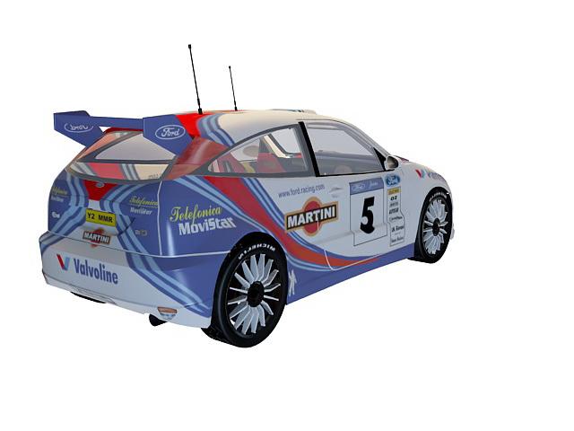 Ford racing car 3d rendering