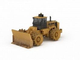 Wheel compactor bulldozer 3d preview