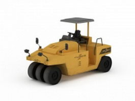 Construction tractor 3d preview
