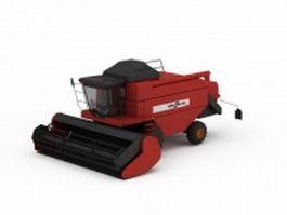 Combine harvester 3d model preview