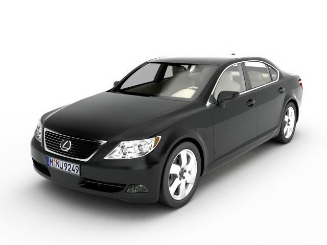 Lexus LS 460 vehicle 3d rendering