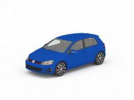 Volkswagen golf sportwagen 3d model preview