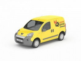 Post office van 3d preview