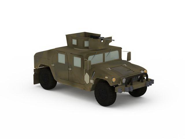 Up-Armored Humvee 3d rendering