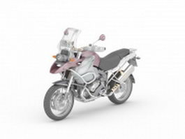 Dual purpose motorcycle 3d model preview