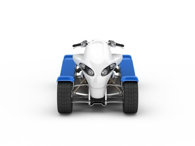 4 Wheel electric scooter 3d rendering