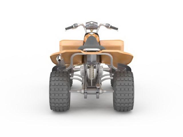 Orange ATV 3d rendering