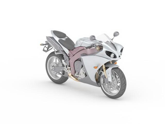 Sportbike concept 3d rendering