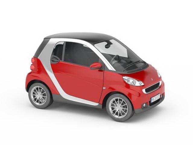 Smart car 3d rendering