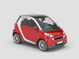 Smart car 3d model preview