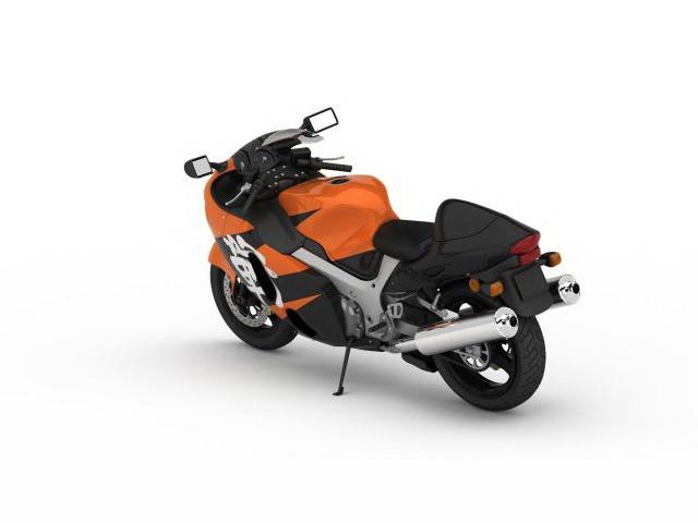 Japanese sports bike 3d rendering