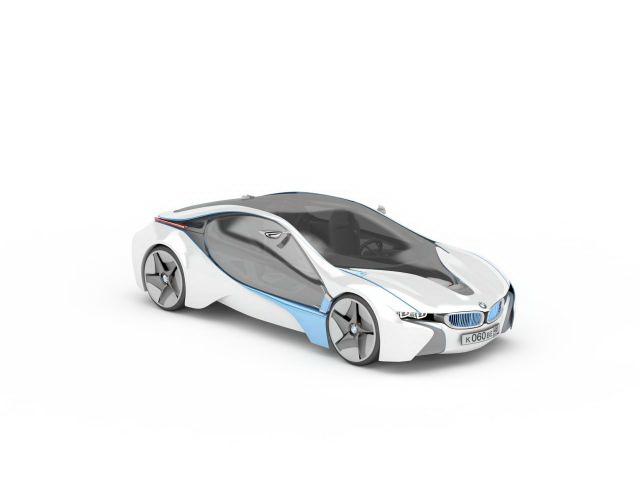 BMW i8 Concept 3d rendering