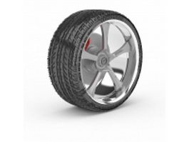 Yokohama tire 3d model preview