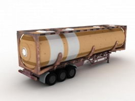 Tanker trailer 3d preview