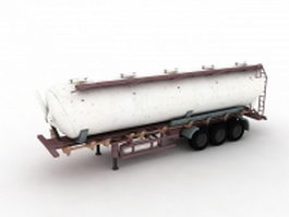 Chemical liquid tanker trailer 3d preview
